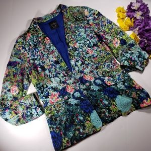 Zara Trafaluc Water Colored Blazer Size Large